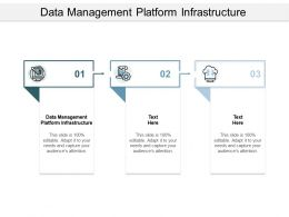 Data Management Platform Infrastructure Ppt Powerpoint Presentation Summary Structure Cpb