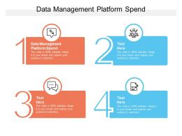 Data Management Platform Spend Ppt Powerpoint Presentation File Show Cpb