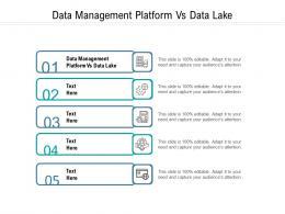 Data Management Platform Vs Data Lake Ppt Powerpoint Presentation Professional Example Topics Cpb
