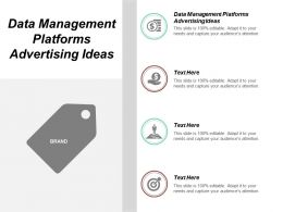 Data Management Platforms Advertising Ideas Ppt Powerpoint Presentation Inspiration Designs Download Cpb