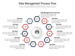Data Management Process Flow Ppt Powerpoint Presentation Icon Images Cpb