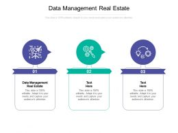 Data Management Real Estate Ppt Powerpoint Presentation File Outline Cpb