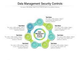 Data Management Security Controls Ppt Powerpoint Presentation Layouts Shapes Cpb