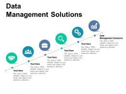 Data Management Solutions Ppt Powerpoint Presentation Slides Display Cpb