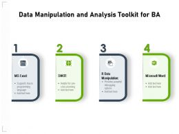 Data Manipulation And Analysis Toolkit For BA