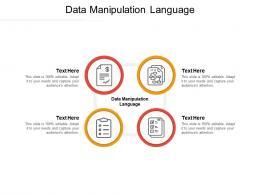 Data Manipulation Language Ppt Powerpoint Presentation Ideas Layout Ideas Cpb