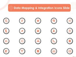 Data Mapping And Integration Icons Slide Ppt Powerpoint Presentation Designs Download