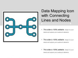 Data Mapping Icon With Connecting Lines And Nodes