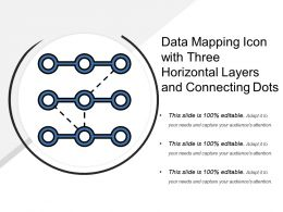 Data Mapping Icon With Three Horizontal Layers And Connecting Dots
