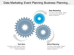 Data Marketing Event Planning Business Planning Financial Forecasting Cpb