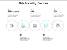 Data Marketing Practices Ppt Powerpoint Presentation Layouts Design Templates Cpb