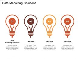 Data Marketing Solutions Ppt Powerpoint Presentation Gallery Inspiration Cpb