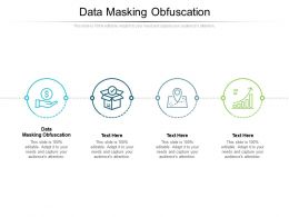 Data Masking Obfuscation Ppt Powerpoint Presentation Slides Design Templates Cpb