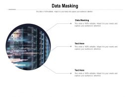 Data Masking Ppt Powerpoint Presentation Styles Deck Cpb