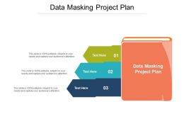 Data Masking Project Plan Ppt Powerpoint Presentation Styles Layouts Cpb