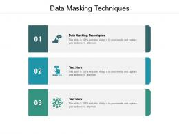 Data Masking Techniques Ppt Powerpoint Presentation Gallery Icon Cpb