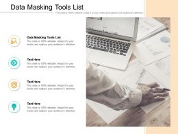Data Masking Tools List Ppt Powerpoint Presentation Gallery Rules Cpb