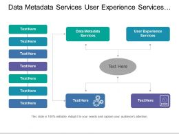 Data Metadata Services User Experience Services Customization Services