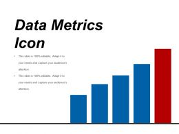 Data Metrics Icon Example Of Ppt