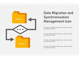Data Migration And Synchronization Management Icon