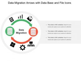 Data Migration Arrows With Data Base And File Icons