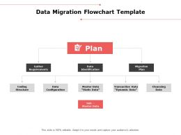 Data Migration Flowchart Template Plan Ppt Powerpoint Presentation Outline Icons