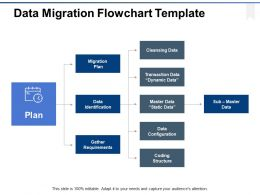 Data Migration Flowchart Template Ppt Powerpoint Presentation File Structure