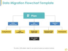 Data Migration Flowchart Template Ppt Summary Graphics Tutorials