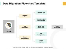 Data Migration Flowchart Template Static Data Ppt Powerpoint Slides