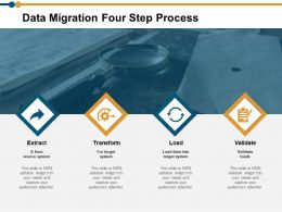 Data Migration Four Step Process Ppt Powerpoint Presentation Model Themes