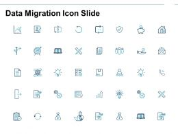 Data Migration Icon Slide Bulb Ppt Powerpoint Presentation File Gallery