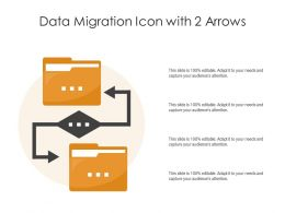 Data Migration Icon With 2 Arrows