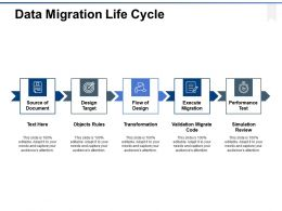 Data Migration Life Cycle Ppt Powerpoint Presentation Gallery Diagrams