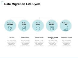 Data Migration Life Cycle Ppt Powerpoint Presentation Inspiration Gallery