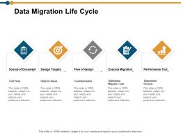 Data Migration Life Cycle Ppt Powerpoint Presentation Model Tips