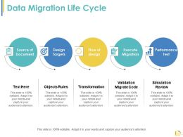 Data Migration Life Cycle Ppt Summary Example Introduction