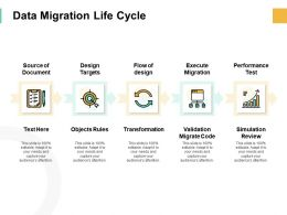 Data Migration Life Cycle Targets Ppt Powerpoint Presentation Pictures