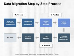 Data Migration Step By Step Process Ppt Powerpoint Presentation Gallery Icon