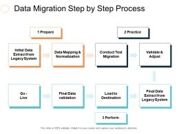 Data Migration Step By Step Process Ppt Slides Design Templates