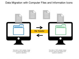Data Migration With Computer Files And Information Icons