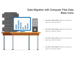 Data Migration With Computer Files Data Base Icons