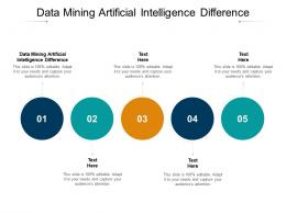 Data Mining Artificial Intelligence Difference Ppt Powerpoint Presentation Summary Cpb