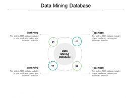 Data Mining Database Ppt Powerpoint Presentation Portfolio Background Cpb