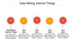 Data Mining Internet Things Ppt Powerpoint Presentation Layouts Graphics Pictures Cpb