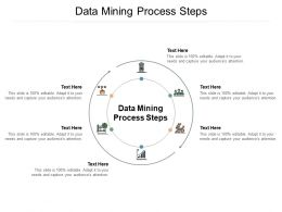 Data Mining Process Steps Ppt Powerpoint Presentation Summary Introduction Cpb