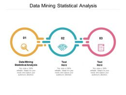 Data Mining Statistical Analysis Ppt Powerpoint Presentation Slides Graphics Cpb