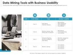 Data Mining Tools With Business Usability