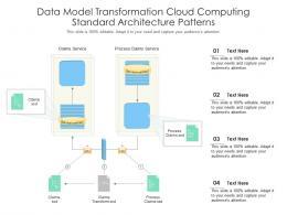 Data Model Transformation Cloud Computing Standard Architecture Patterns Ppt Powerpoint Slide