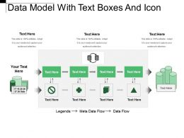 Data Model With Text Boxes And Icon