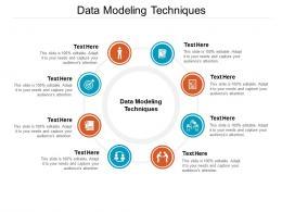Data Modeling Techniques Ppt Powerpoint Presentation Portfolio Shapes Cpb